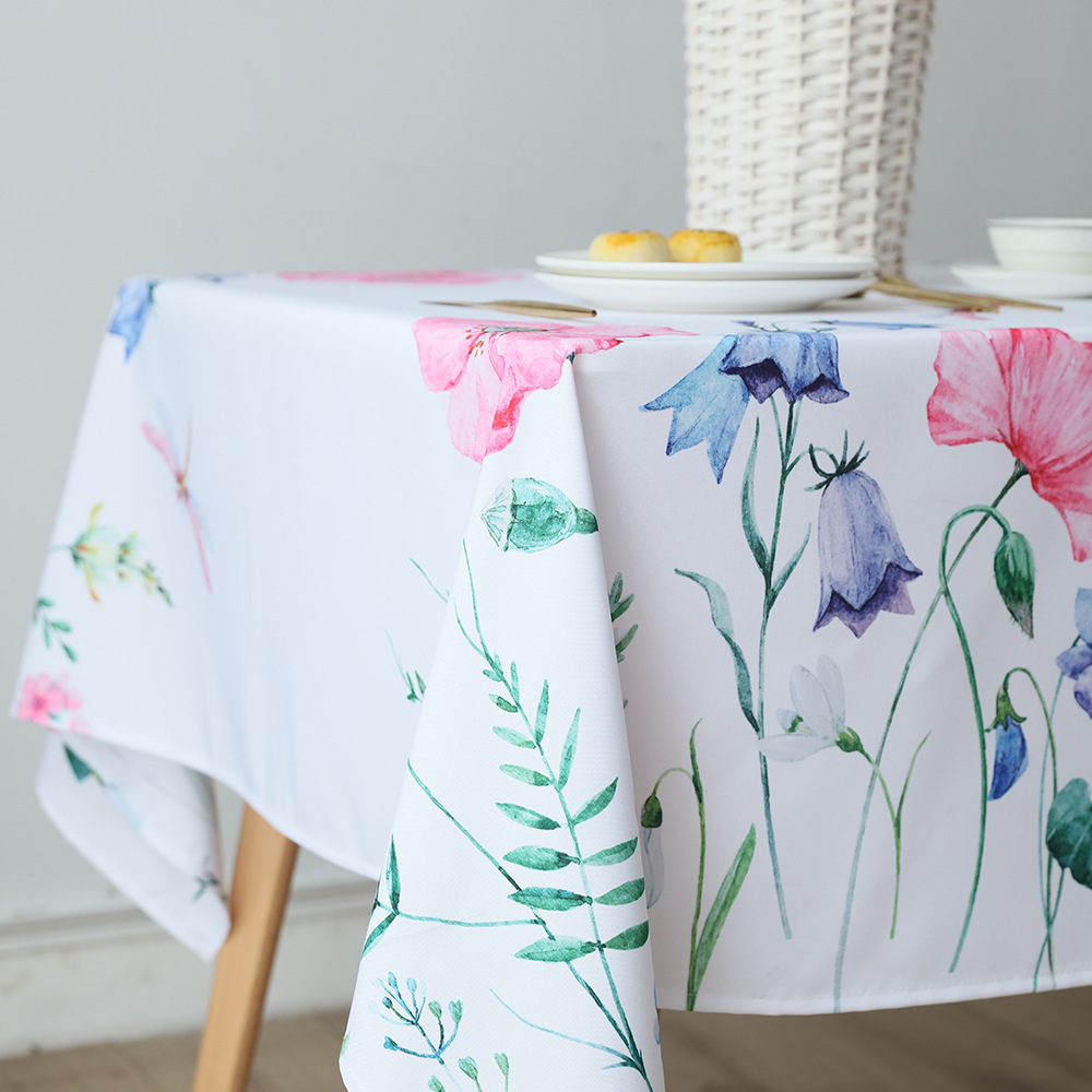 Pretty Flower Tablecloth for Protecting Your Wooden Tables