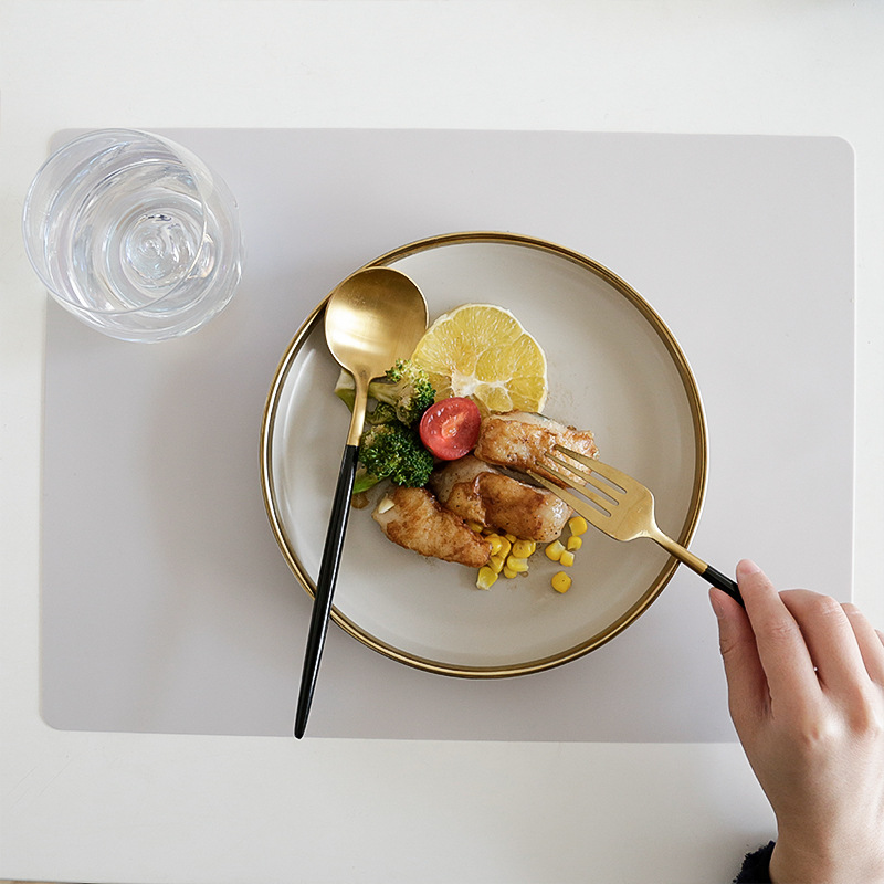 Nordic Multicolored Silicone Placemats for Minimalist Homes