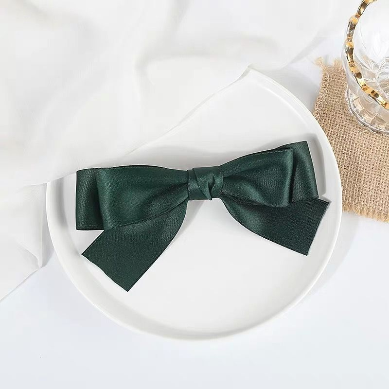 Thin Tails Down Ribbon Bow Hair Clip for Styling Hair