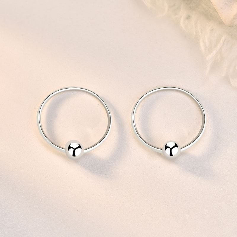 Modern Simple Ball Closure Ring for Nose Piercing
