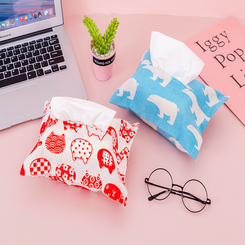 Soft Animal-Patterned Tissue Box for Car Neatness