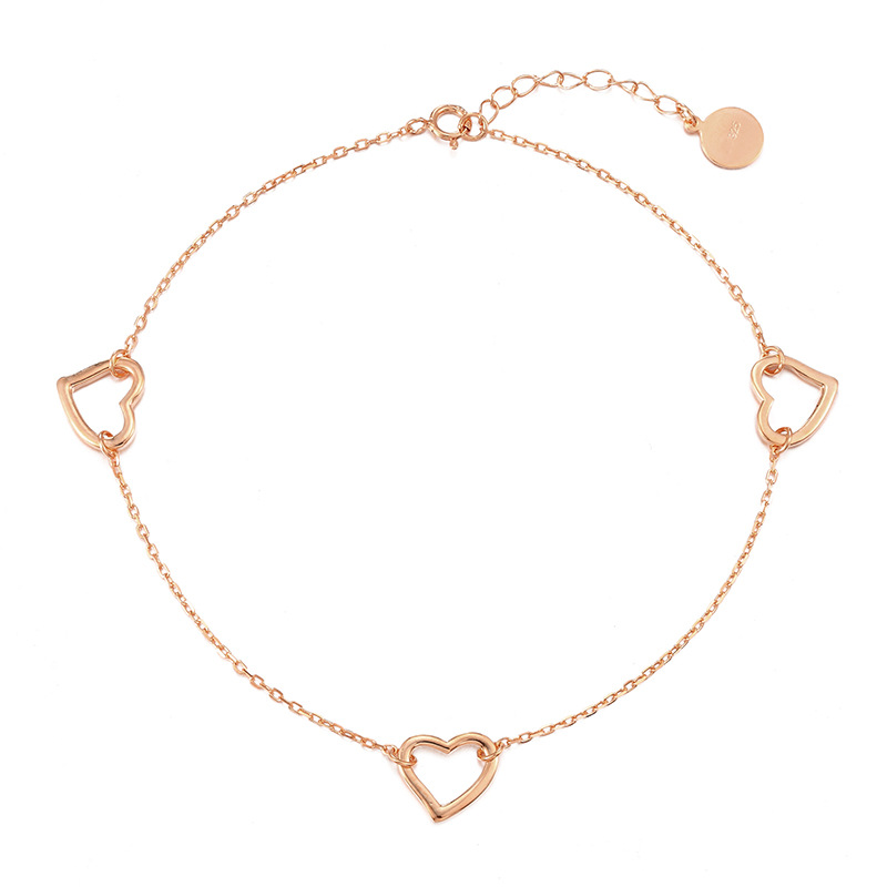 Stunning Anklet with with Heart Design for Trendy Fashion Outfit