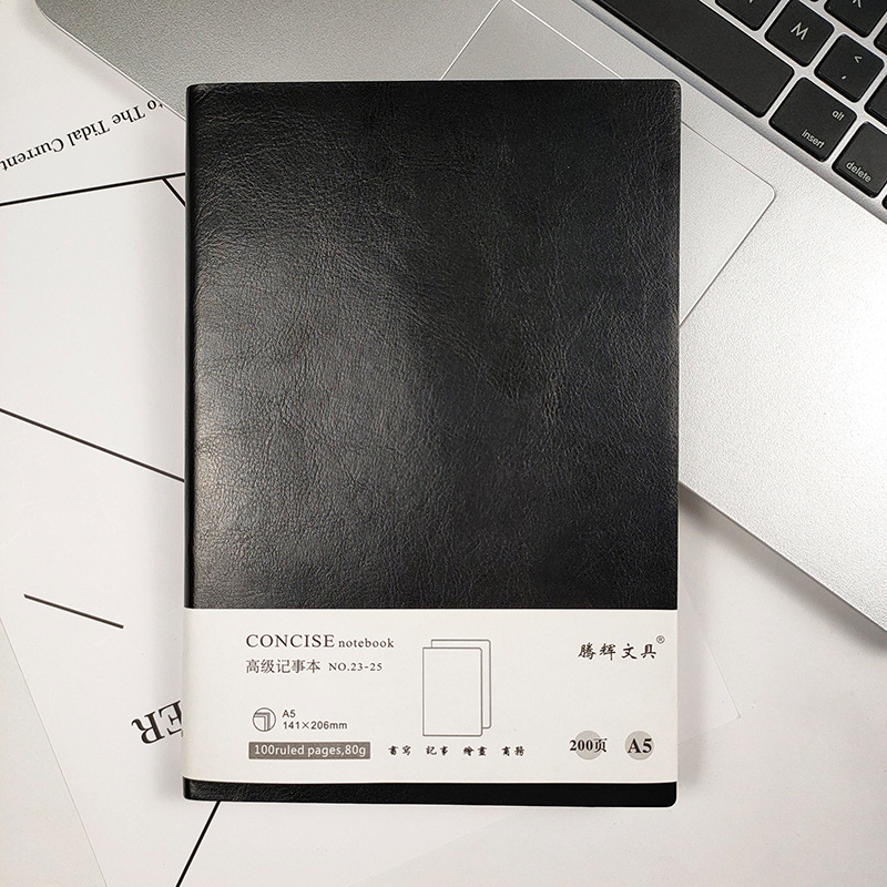 Classic Faux Leather Notebook for School or Office Use