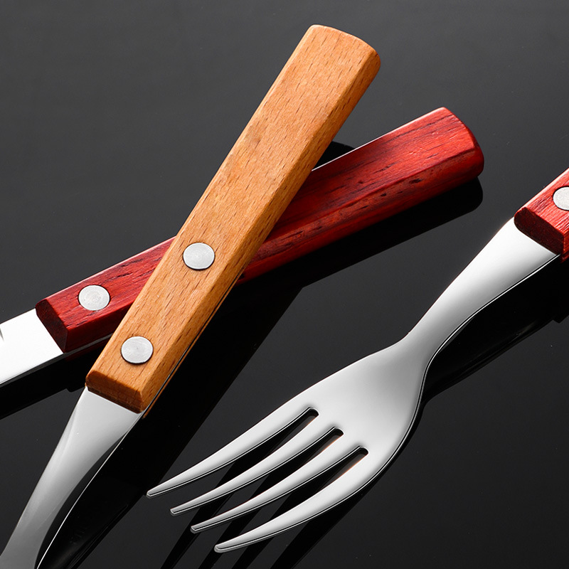 High End Steel Fork and Knife for Tableware