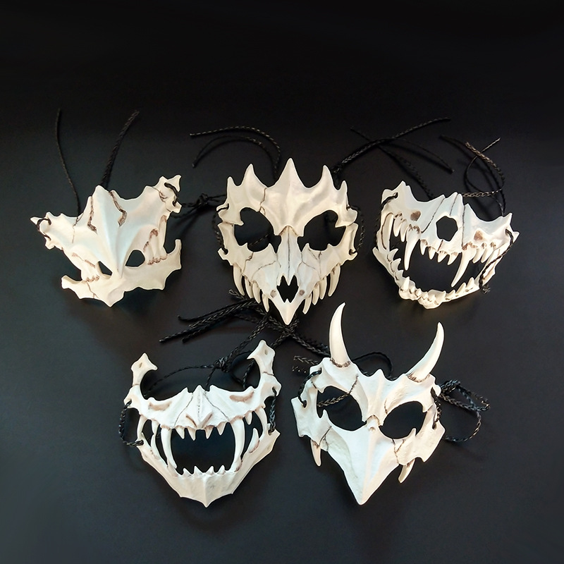 Scary Face Mask Made of Resin for Realistic Halloween Costumes