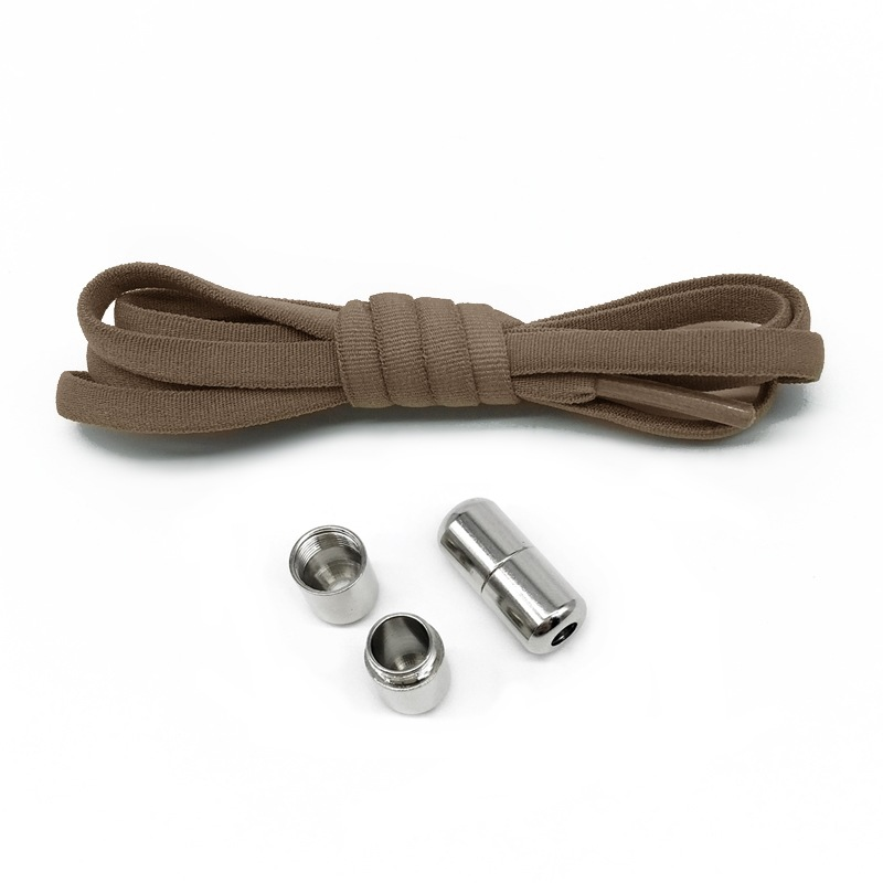 Flat Shoelaces with Free Screw-On Lazy Buckle