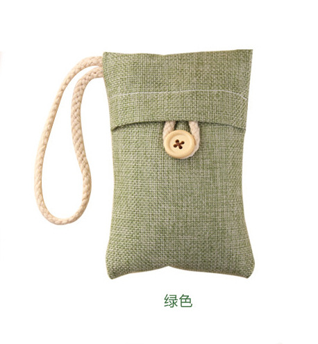 Air-Purifying Bamboo Charcoal-Filled Cotton-Linen Pouch for Family Car Accessories