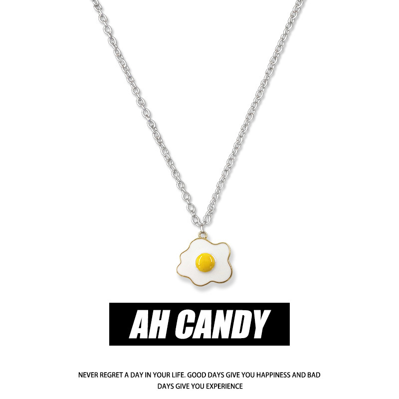 Adorable Poached Egg Pendant Necklace for Cute Accessories