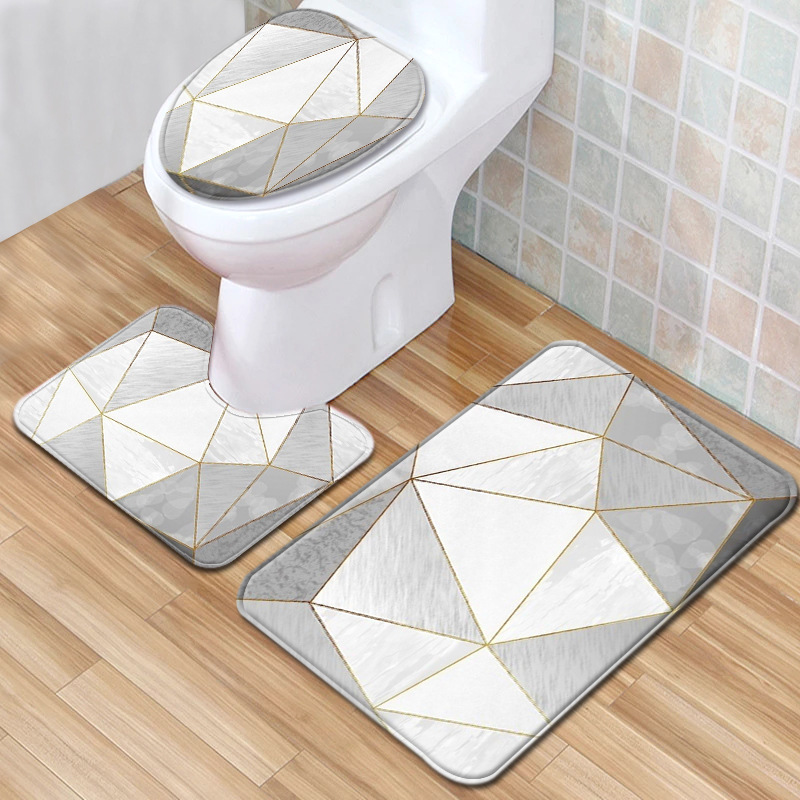 Highly Valuable Three-Piece Marble Mat for High-Class Interior-Designed Houses