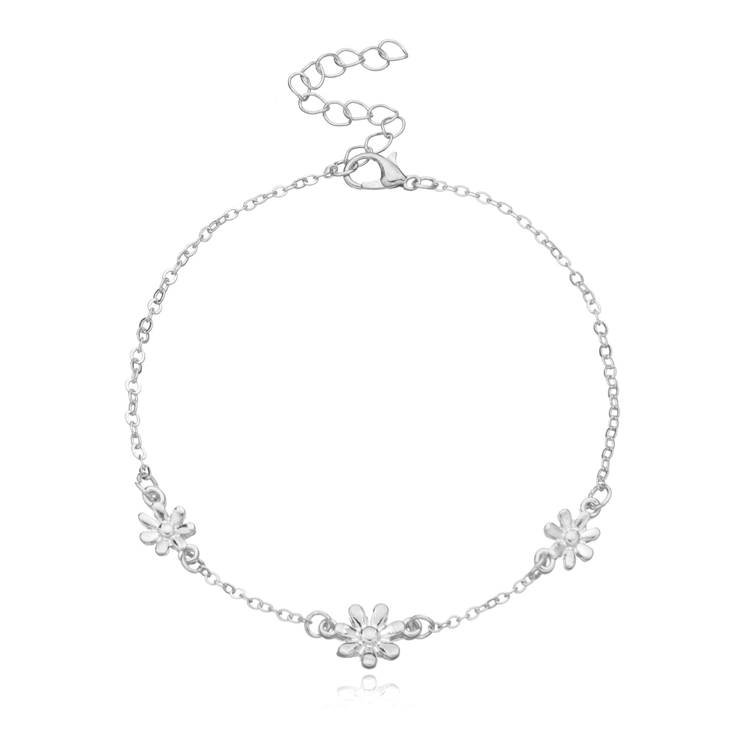 Aesthetic Little Flower Charm Anklet for Beach Weekend