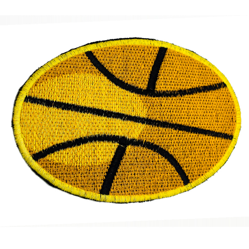 Orange Embroidered Basketball Patch for Basketball Enthusiasts