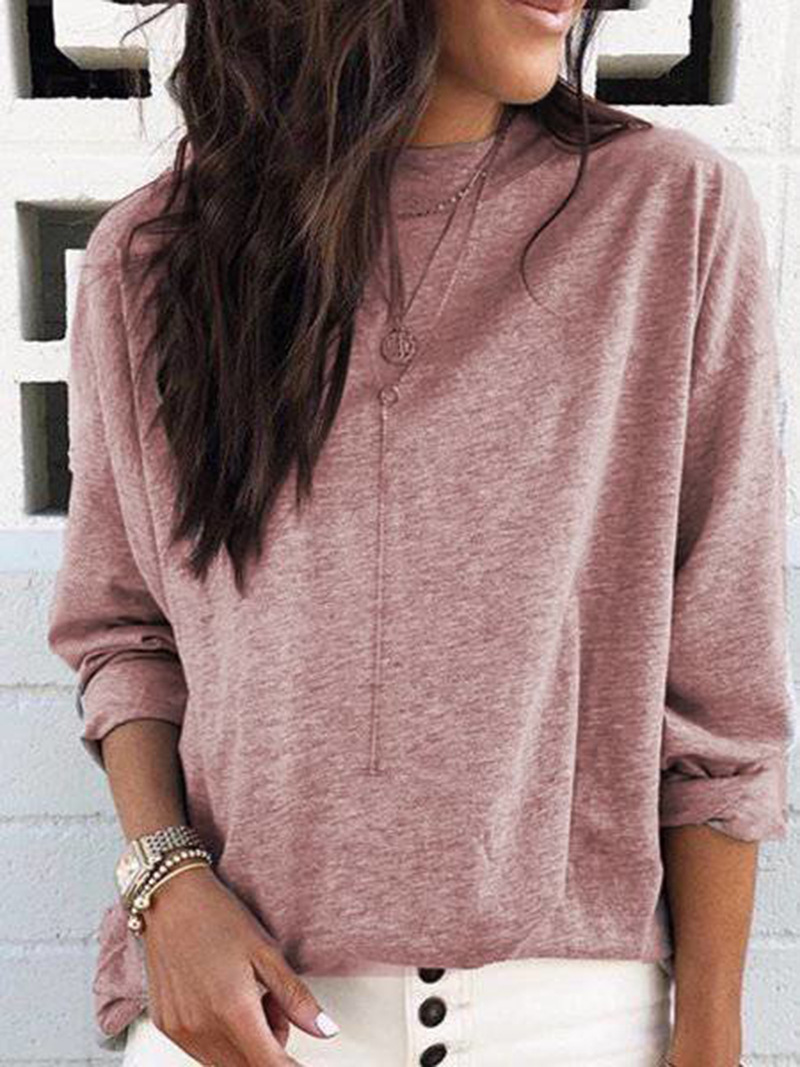 Sophisticated Round Neck Pull Over Sweater for Laidback Style