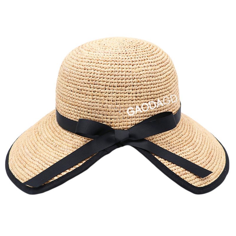 Beautiful Straw Lacy Hat for Sunny Days