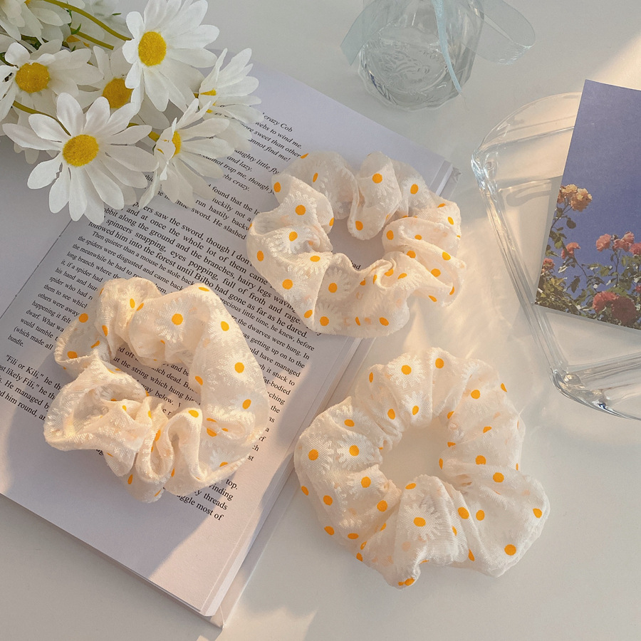 Classy Dainty Daisy Print Scrunchies for Any Occasion