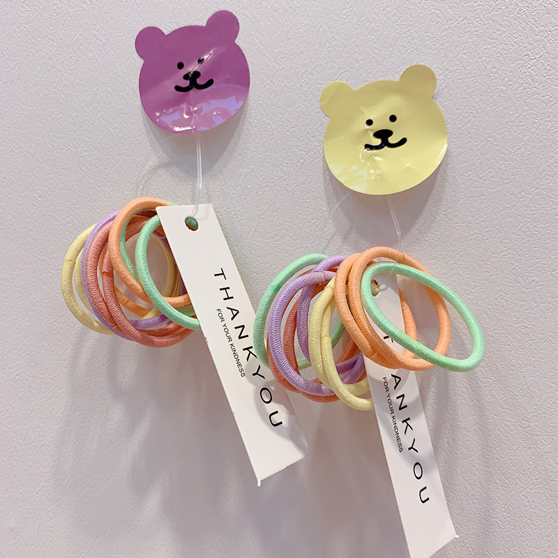 Colorful Pastel Hair Ties for Primary School Students