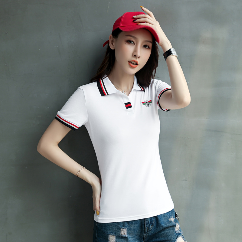 Comfortable Polo with Colorful Winged Insect for Fab Summer Outfits