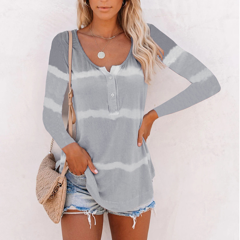 Gradient Pastel Colored Henley Shirt for Easy Style Choice