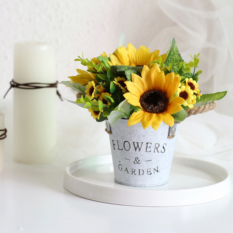 Artificial Sunflower Potted Plant for Photography Props