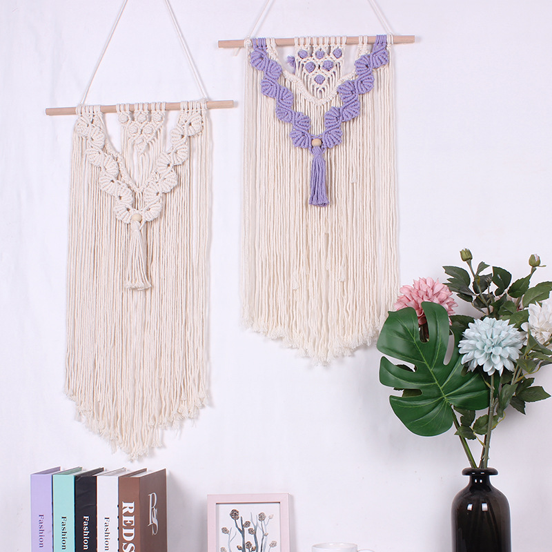 Ideal Lace Tapestry Threads on a Beech Sticks Bohemian Style Wall Decor for Living Rooms, Bed Rooms and Receiving Areas
