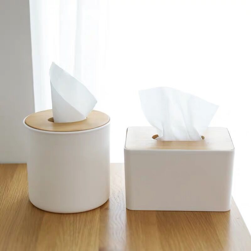 Minimalist Nordic Style Tissue Box for Study Rooms