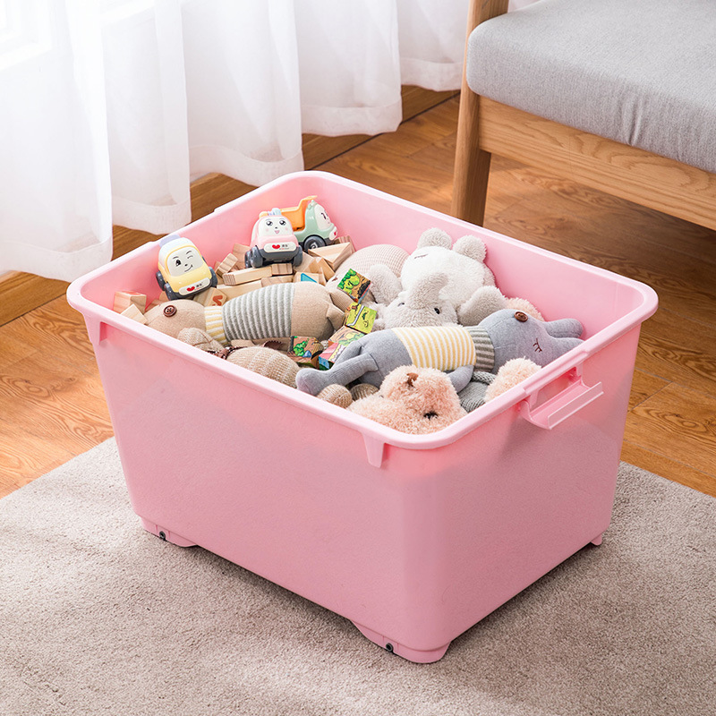 Light Color Plastic Covered Storage Box for Clothes
