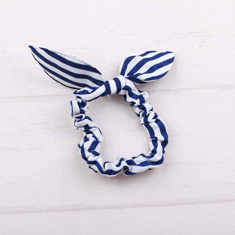 Trendy Printed Stretchable Bow Hair Tie for Girls' Hair Styles