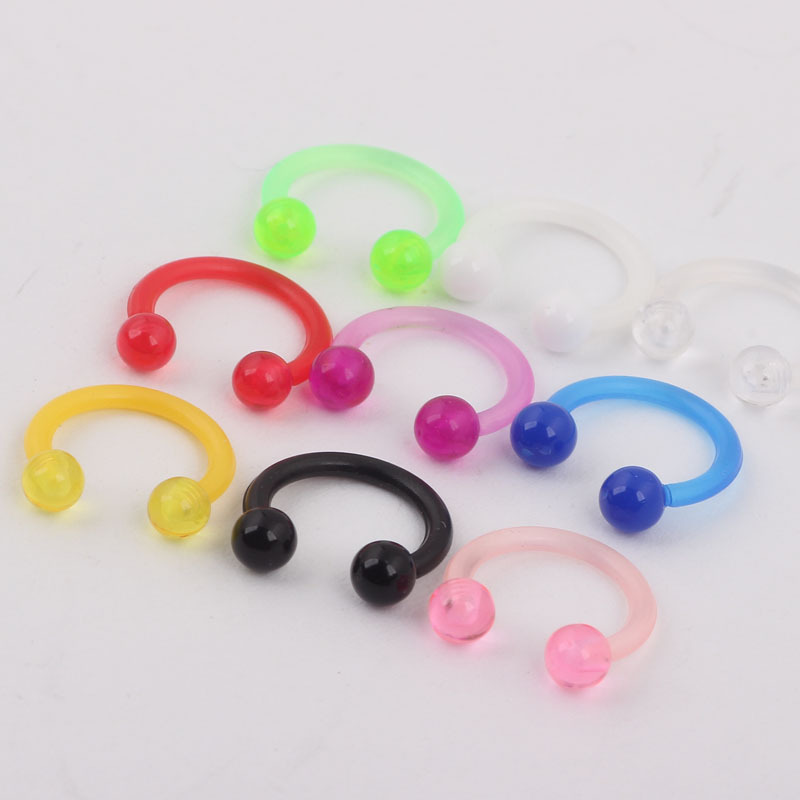 Acrylic Luminous Fake Septum Nose Ring