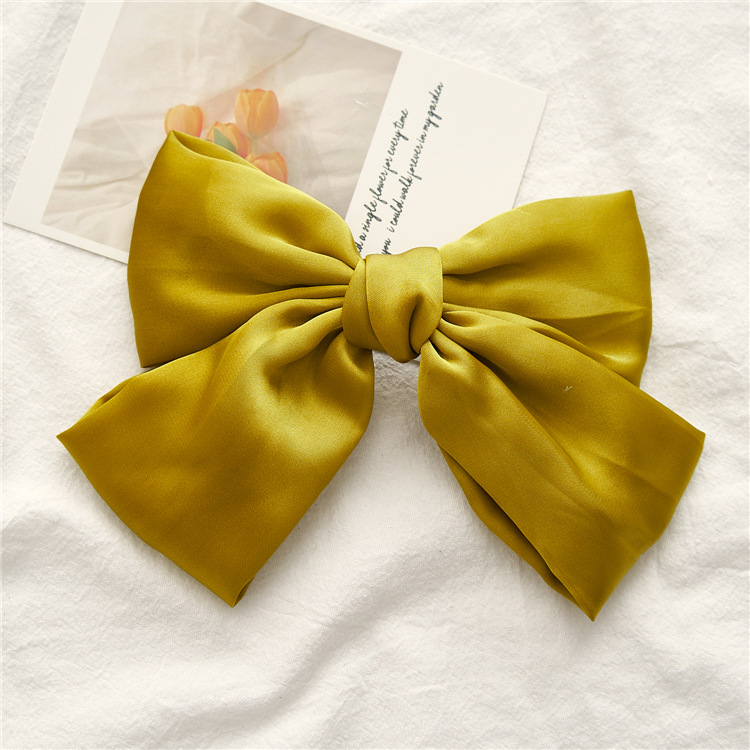 Classic Big Bow Barrette Clip for Charming Hair Accessories