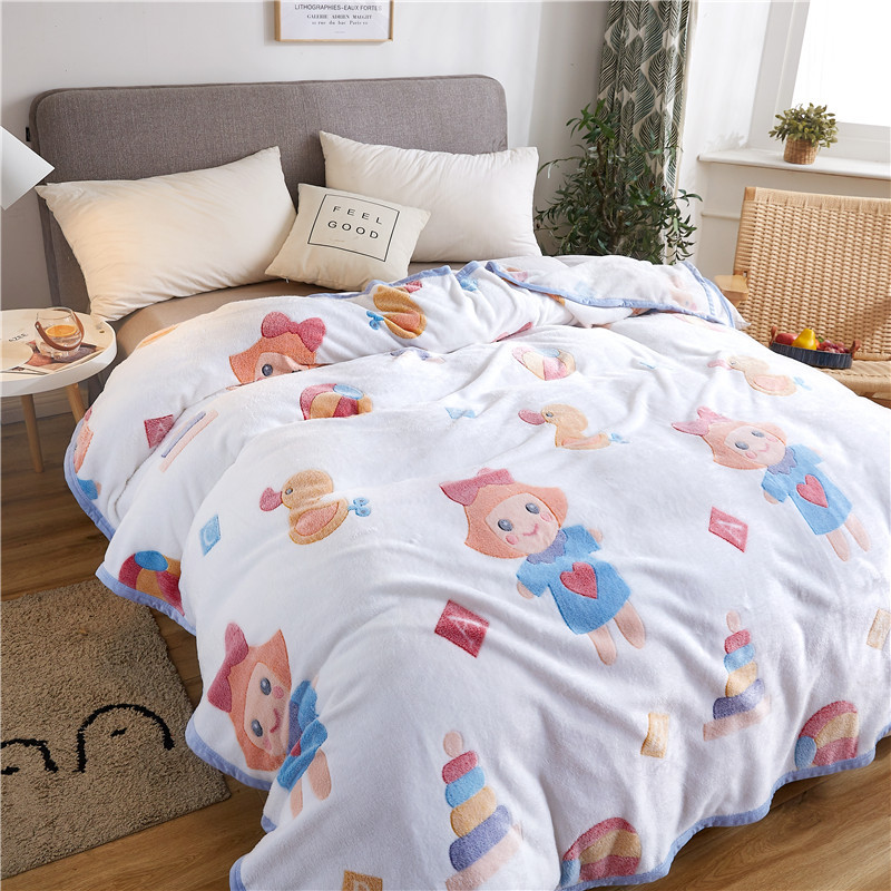 Colorful Prints Blanket for Fun Theme Bedroom