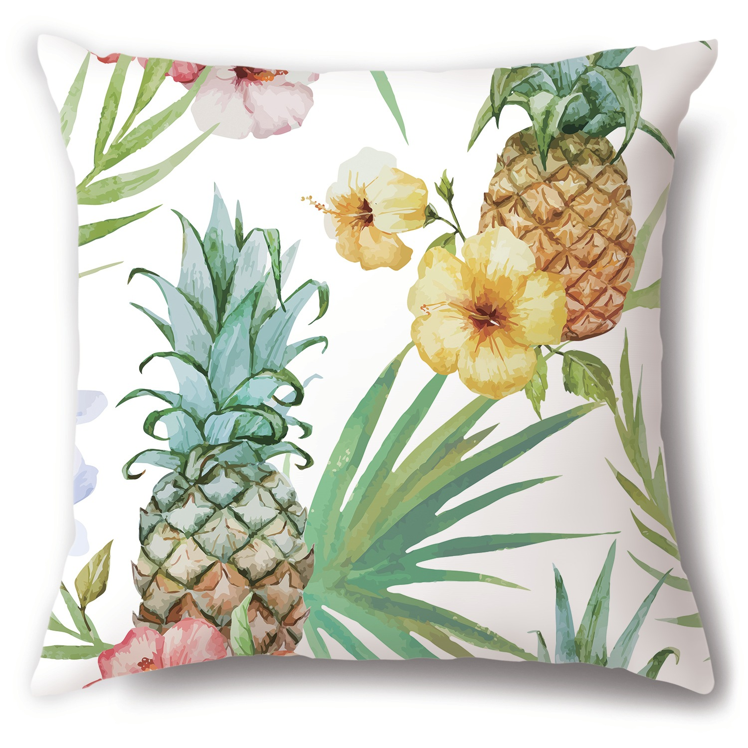 Captivating Pineapple Print Pillowcase for Summer Vacation Homes