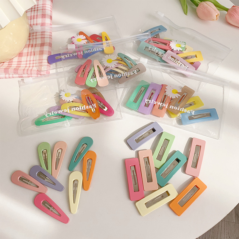 Macaroon Color Snap Hair Clip for Cute Bangs Clip Style
