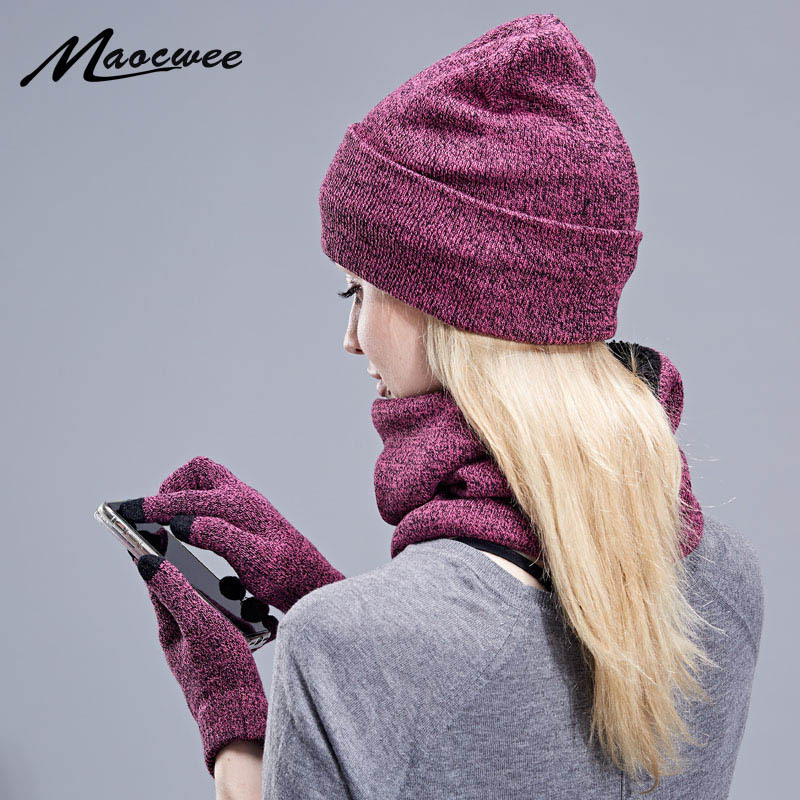 Soft and Thick Hat, Scarf, and Gloves Set for Cold Winter Days