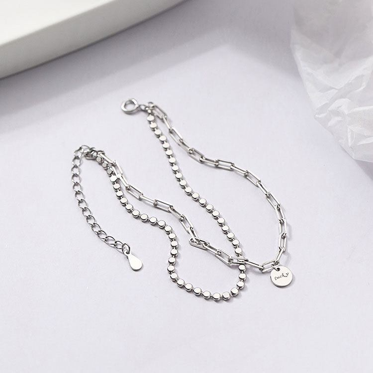 Modern Two-Layer Chain Bracelet with Lucky Pendant for Any Style