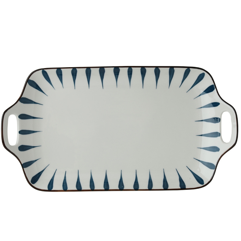 Leaf Pattern Ceramic Plates and Bowls Tableware for Stylish Designs
