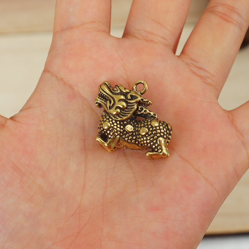 Mythical Chinese Unicorn Copper Pendant for Lucky Charms