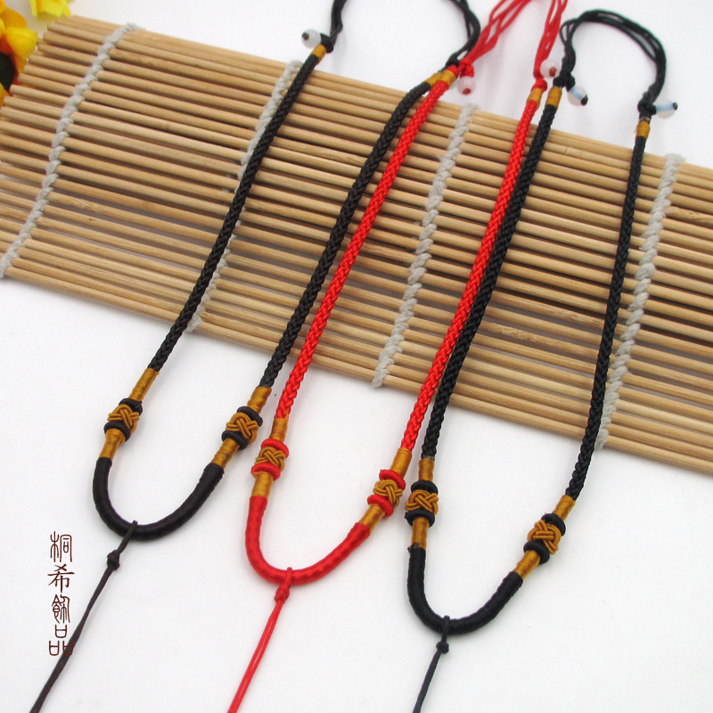 Whimsical Jade Thread Necklace for Traditional Outfits