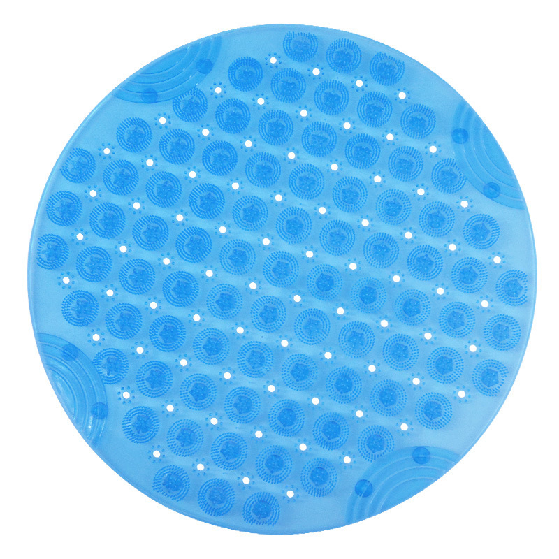 Anti-Slip Stepping Round Bathroom Mat for Bathing Safety