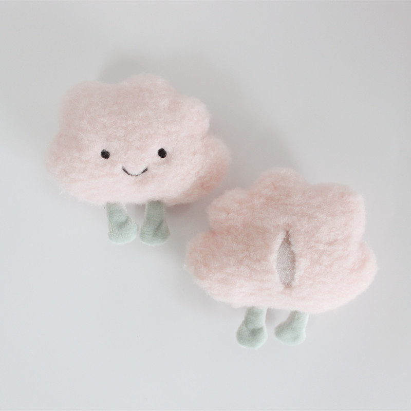 Adorable Cloud Plush Brooch for Kids