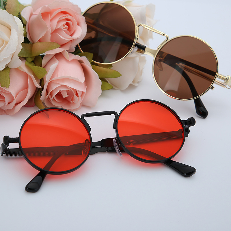 Trendy Metal Frame Round-Shape Sunglasses for Summer Look