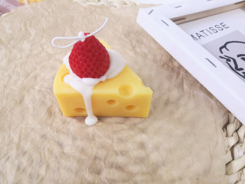Eccentric Cheese Slice Candles for Decor