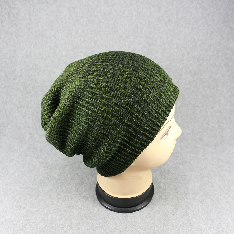 Classic Solid Color Knitted Bonnet for Hip-Hop Fashion Styles