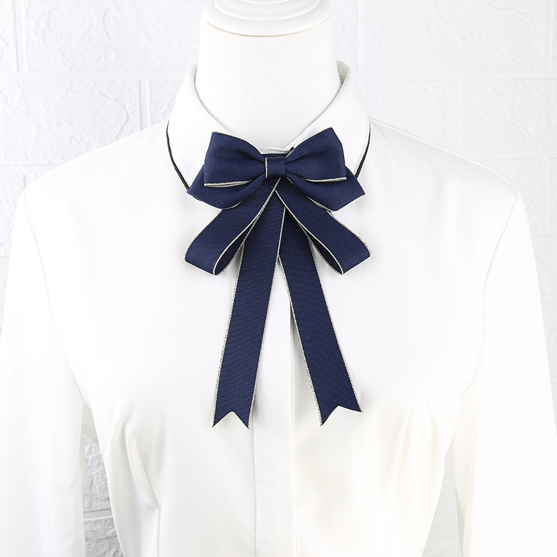 Snazzy Pin Brooch Ribbon Bow Tie Accessories for Elegant Look