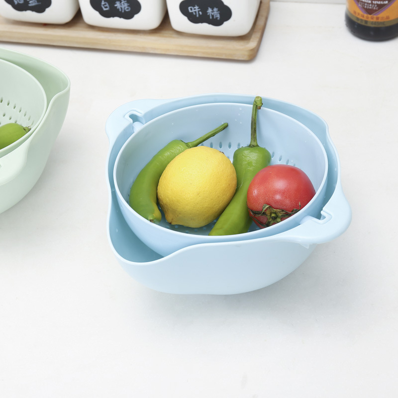 Useful Draining Plastic Basin for Fruits and Vegetables