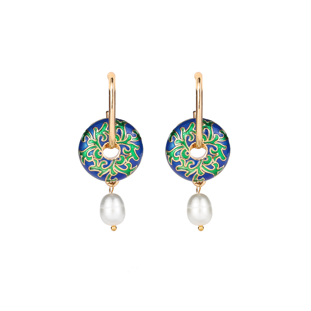 Beauteous Alloy and Faux Pearl Earrings for Chic Looks