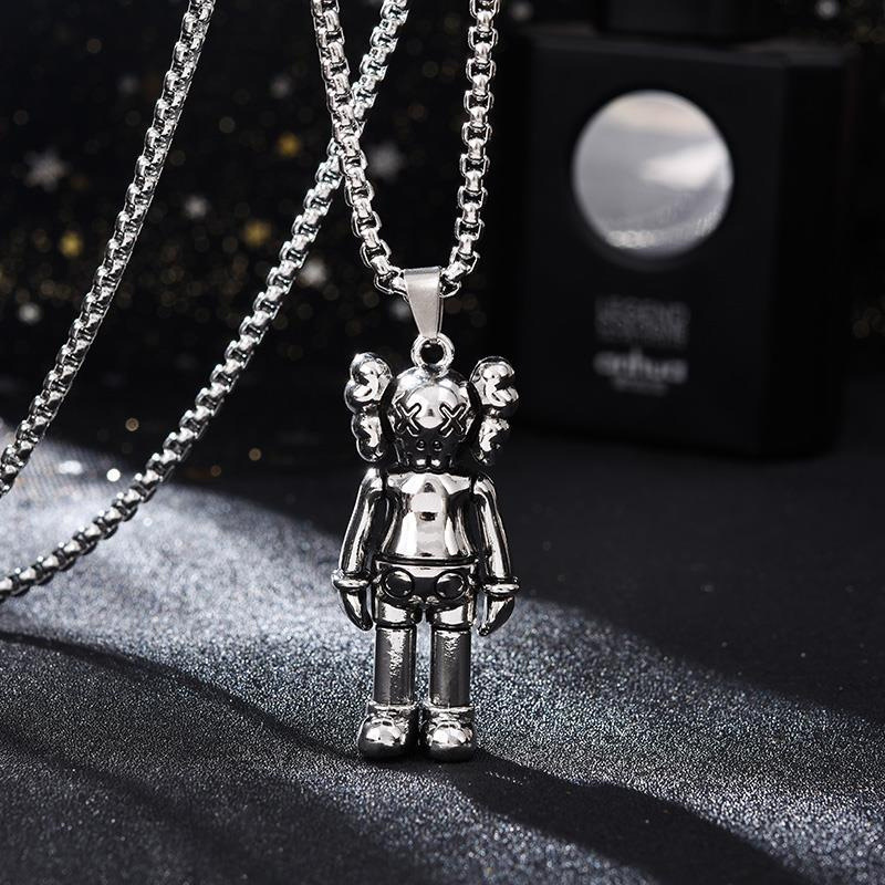 Lonely Girl Titanium Steel Pendant Necklace for Emo Style Outfits
