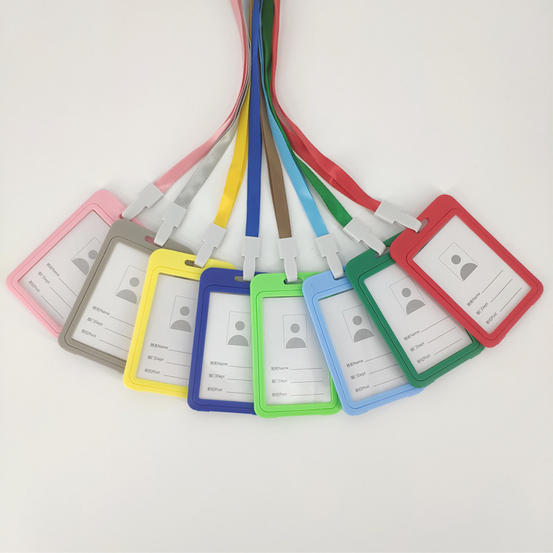 Colored Plastic Lanyard and ID Case