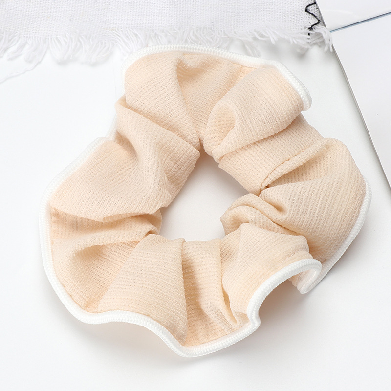 White Trim Ribbed Cloth Scrunchies for Matching Loungewear