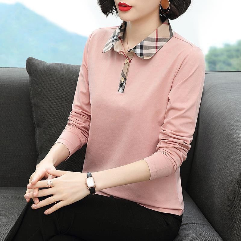 Casual Long-Sleeved Polo with Distinct Collar for Office Wear