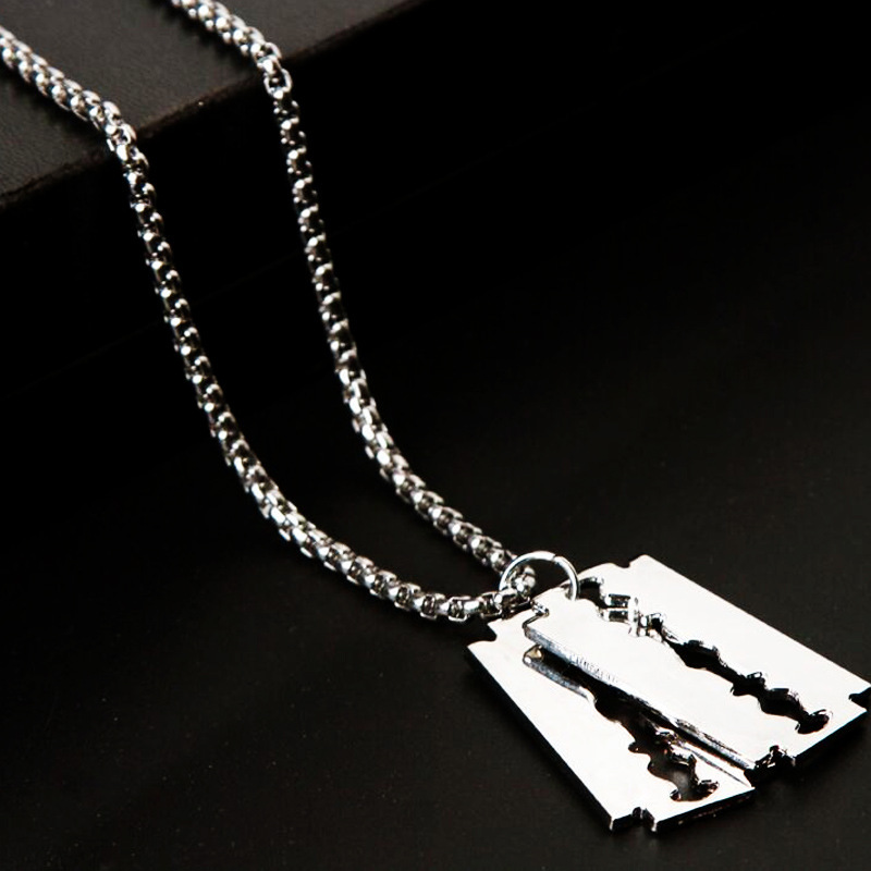 Trendy Blade Pendant Necklace for Goth Styles