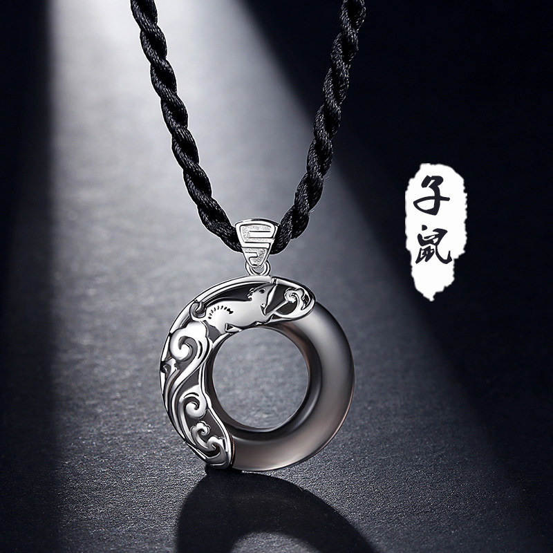 Hippie Round Pendant Chain Necklace for Fashionable Style